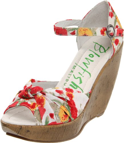 Blowfish Women's Ricky,White Monet Flowers Fab,6.5 M US