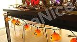 [JapaNice]ジャパナイスハロウィンイルミネーションLED12灯パンプキンライトセット日本用コンセントタイプ500cm+170cmコードBO742
