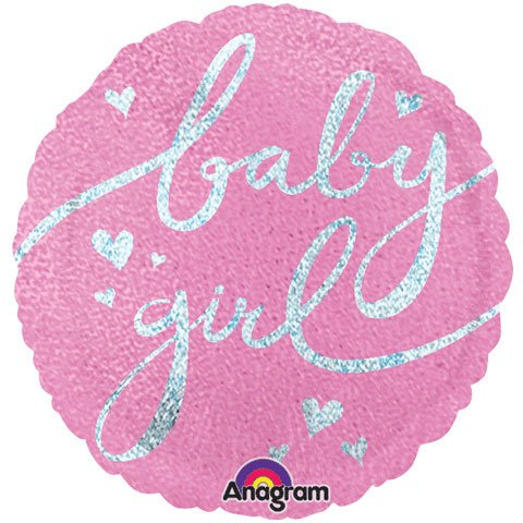 Pink Baby Girl Foil Balloon (18In/45Cm) front-1063342