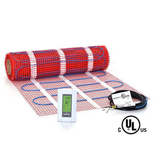 30 sqft Mat Kit, 120V Electric Radiant Floor Heat Heating System w/ Aube Programmable Floor Sensing Thermostat (Tile Floor Heater compare prices)