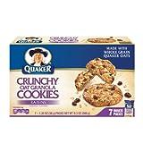 Quaker Crunchy Oat Granola Cookies, Raisins, 9.3-Ounce Boxes (Pack of 6)
