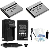 2-Pack LI-50B High-Capacity Replacement Batteries with Rapid Travel Charger for Select Olympus Tough Digital Cameras. UltraPro Deluxe Accessory Set Included