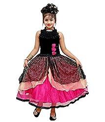 Addyvero Deep Pink Light Girls Gown Dress