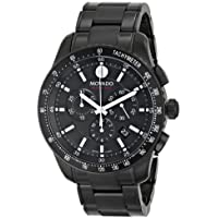 Movado Series 800 Black PVD Chronograph Mens Watch (2600107)