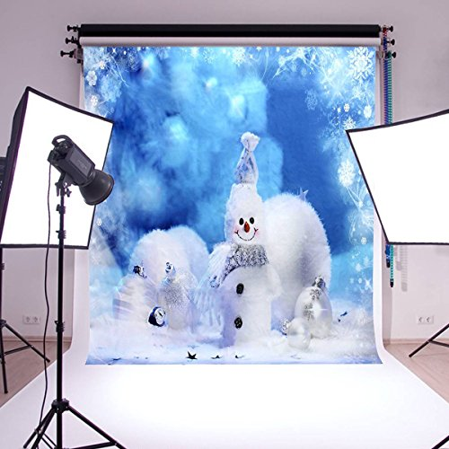 Mohoo 1.5 * 2.1 m de Noël Contexte Photographie Backdrop photo Snowman studio toile de vinyle