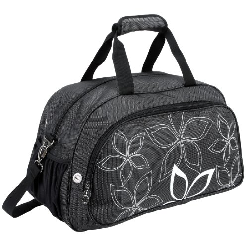 20-fashionable-flowers-pattern-black-sports-gym-tote-bag-travel-carryon