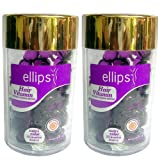 Ellips(エリプス)ヘアビタミン(50粒入)2個セット [並行輸入品][海外直送品] パープル