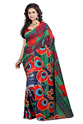 Pruthu Georgette Sari with Unstitched Blouse (plava_007)
