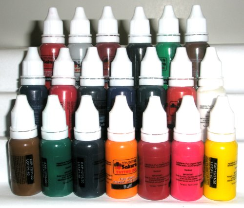 Cheap iron sakura tattoo ink pigment high quality 20 for Cheap tattoo ink