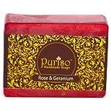 Puriso Handcrafted Soaps - Rose & Geranium- Handmade Soaps(100 Gms)