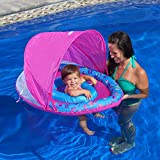 Aqua Leisure Sunshade Girls Fabric Covered Egg Shape Baby Boat, Pink