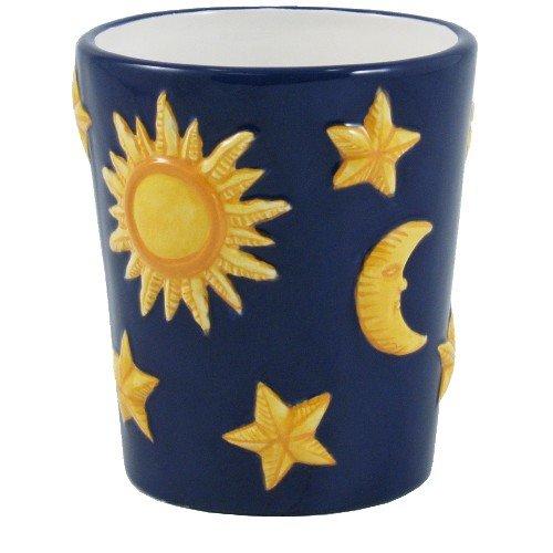 Celestial Moon and Stars Glazed Ceramic Tumbler Celestial Bath