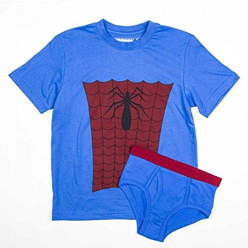 DC Comics Boys' Spiderman 2pc Underoos Set (Medium / 8)