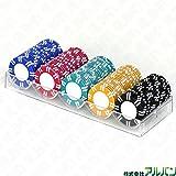 本格カジノポーカーチップ 直径39mm 5色(各色20枚、計100枚セット)