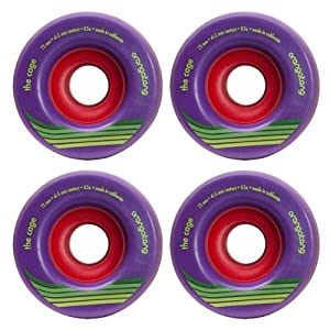 Buy Orangatang Cage 73mm 83a Purple Longboard Skateboard Wheels Set of 4 New by Orangatang now!