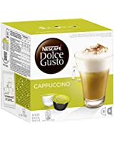 Nescafé Dolce Gusto Cappuccino 16 Capsules (Pack of 3, Total 48 Capsules, 24 servings)