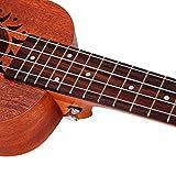 Tenworld 21 Inch Soprano Ukulele Sapele 15 Frets Musical Instrument Hawaiian Guitar