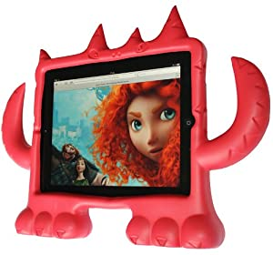 iMonster iPad Cover Red for iPad 1, 2, 3, 4 Protective Cover for Children