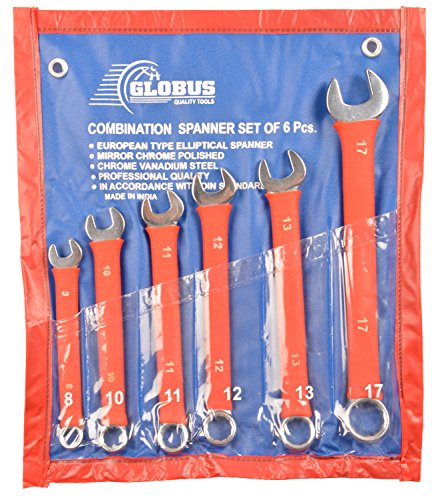 Combination Spanner with Non Slip PVC Sleeve (Set of 6)