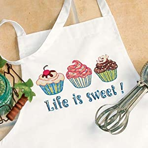 Dimensions Needlecrafts Stamped Cross Stitch, Life Is Sweet Apron