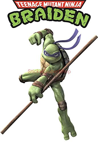 Personalized DONATELLO Ninja Turtles Decal WALL STICKER Art Home Decor TMNT Kids C511, Large