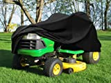 "Deluxe Riding Lawn Mower Tractor Cover Fits Decks up to 54"" - Black - Water, Mildew, and UV Resistant Storage Cover"