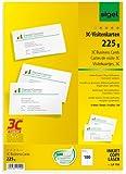 Sigel LP795 Visitenkarten 3C, 100 Stück = 10 Blatt, hochweiß, glatter Schnitt rundum, 225 g, 85x55 mm - weitere Stückzahlen auswählbar