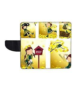 KolorEdge Printed Flip Cover For Huawei Honor 4X - Multicolor(55KeMLogo8358Honor4X)