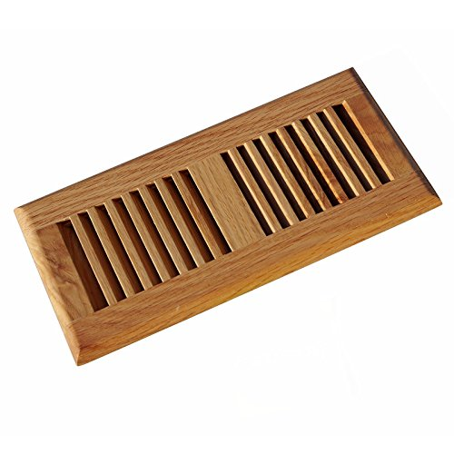 WELLAND 2 Inch x 10 Inch Red Oak Hardwood Vent Floor Register Self Rimming Clear Finish (Heat Register Cover Oak compare prices)