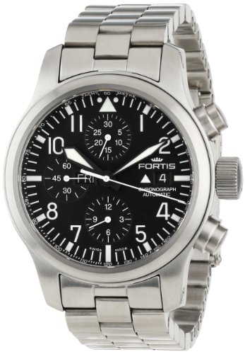 Fortis Men's 656.10.11 M B-42 Flieger Automatic Stainless-Steel Automatic Chronograph Date Watch