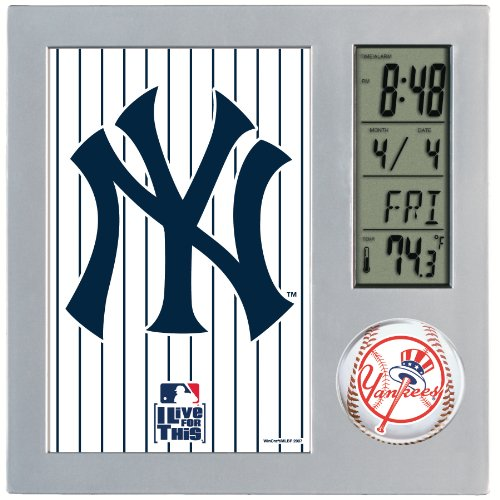 MLB New York Yankees Digital Desk Clock