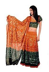Pezzava Bandhej Lehenga Choli For Women's