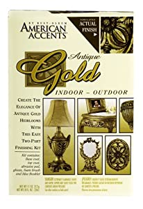Rust-Oleum 7981955 2-Part Decorative Finishes Half Pint and Spray Kit, Antique Gold