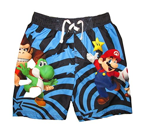 Nintendo Super Mario Brothers Boys Swim Trunks