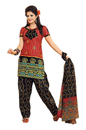 Aryahi Women's Cotton Dress Material (70416_Red) | Kerala ...