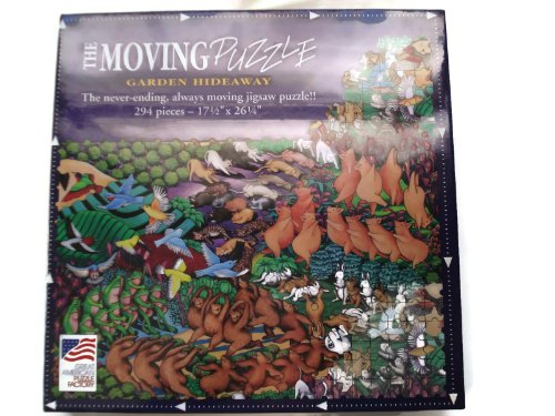 1994 The Moving Puzzle GARDEN HIDEAWAY 294 Piece Jigsaw Puzzle - 17 1/2 x 26 1/4 Inch