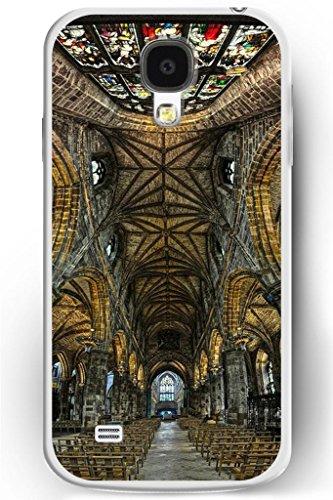 Sprawl Luxury Samsung Galaxy S4 Hard Case Ultra Slim Fit Religious Worshipper Shrine Design -- Indoor Of Church