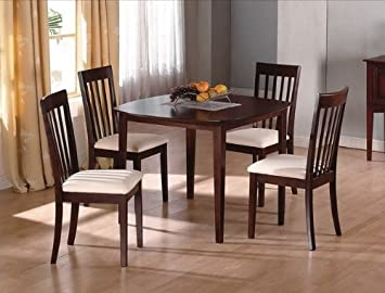 "5PC 40"" Squared Dining Table and Chairs Set"