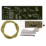 Ultimate Arms Gear Otis Ripcord .223 5.56 Bore Barrel Cleaner AR15 AR-15 M4 M16 Rifle OD Olive Drab Green Gunsmith Cleaning Work Tool Bench Gun Mat + Deluxe .223 5.56 AR15 M-16 Rifle Cleaning Kit