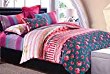 WRAP 100% COTTON DOUBLE BED DUVET SET (1 BEDSHEET 2 PILLOW COVERS & 1 DUVET COVER) CNSD-06