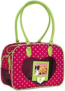 J Garden Green Pink Polka Dot Pet Dog Cat Carrier by J Garden