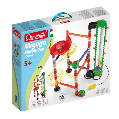 Quercetti Marble Run With Motorized Elevator 177 Pieces