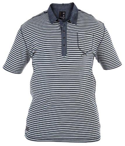 Split Star Kingsize Big Mens Stripe Polo Shirt (1XL-6XL)