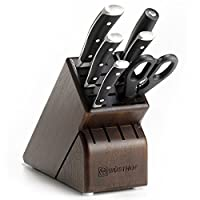 Wusthof Classic Ikon 7-Piece Knife Block Set, Walnut