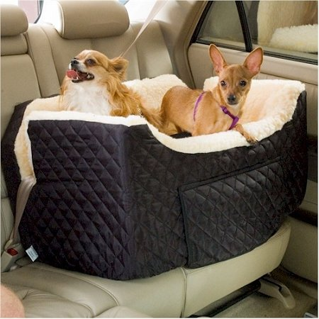 Large Lookout Dog Car Seat - Hot Pink Vinyl - Sn-80203 front-41156