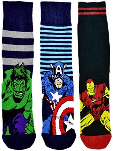 6-pairs-new-prints-marvel-comics-action-hero-design-socks-mens-novelty-fun-spiderman-hulk-captain-am