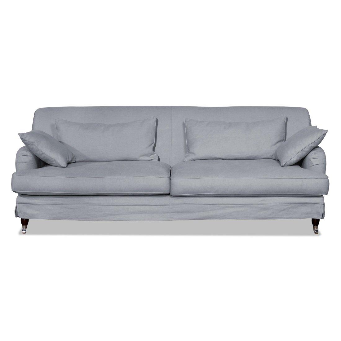 2-Sitzer Sofa Grau-Blau Designer Couch Sofa günstig kaufen