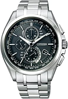 [シチズン]CITIZEN 腕時計 ATTESA アテッサ Eco-Drive エコ・ドライブ 電波時計 ダイレクトフライト 針表示式 薄型 金城武広告着用モデル マスコミモデル AT8040-57E メンズ