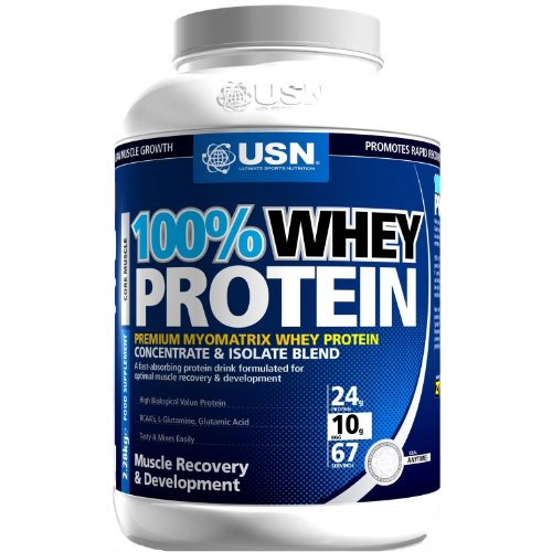 USN 100% Whey Protein 2280 g Chocolate Muscle Development and Recovery Shake Powder