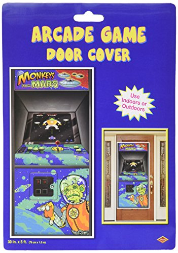 Arcade Game Door Cover Party Accessory (1 count) (1/Pkg) (Door Games compare prices)